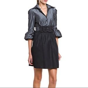 BCBG MAXAZRIA Black/Grey Natasha Dress
